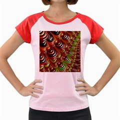 Special Fractal 31 Green,brown Women s Cap Sleeve T-Shirt