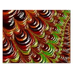 Special Fractal 31 Green,brown Rectangular Jigsaw Puzzl