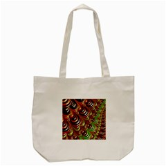 Special Fractal 31 Green,brown Tote Bag (Cream)