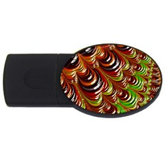 Special Fractal 31 Green,brown Usb Flash Drive Oval (4 Gb)