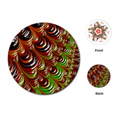 Special Fractal 31 Green,brown Playing Cards (Round)