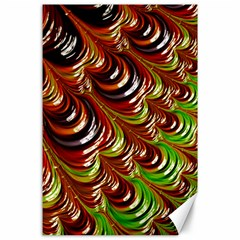 Special Fractal 31 Green,brown Canvas 24  X 36