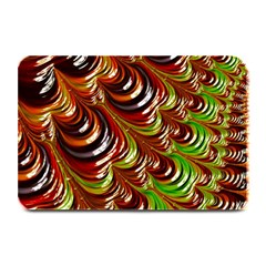 Special Fractal 31 Green,brown Plate Mats