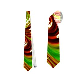 Special Fractal 31 Green,brown Neckties (one Side)