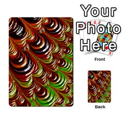 Special Fractal 31 Green,brown Multi-purpose Cards (Rectangle)