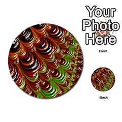 Special Fractal 31 Green,brown Multi-purpose Cards (Round)