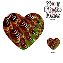 Special Fractal 31 Green,brown Multi-purpose Cards (Heart)