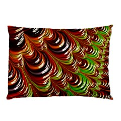 Special Fractal 31 Green,brown Pillow Cases