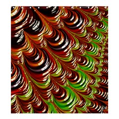 Special Fractal 31 Green,brown Shower Curtain 66  x 72  (Large)