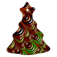 Special Fractal 31 Green,brown Christmas Tree Ornament (2 Sides)