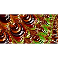 Special Fractal 31 Green,brown You Are Invited 3d Greeting Card (8x4)