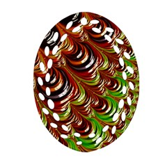Special Fractal 31 Green,brown Ornament (Oval Filigree)