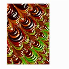 Special Fractal 31 Green,brown Large Garden Flag (Two Sides)