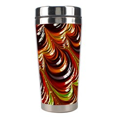 Special Fractal 31 Green,brown Stainless Steel Travel Tumblers