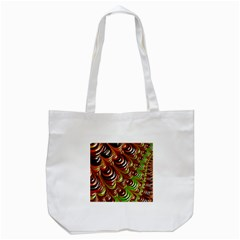 Special Fractal 31 Green,brown Tote Bag (white)