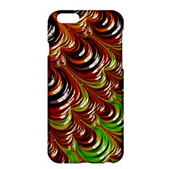 Special Fractal 31 Green,brown Apple Iphone 6/6s Plus Hardshell Case