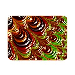 Special Fractal 31 Green,brown Double Sided Flano Blanket (Mini)