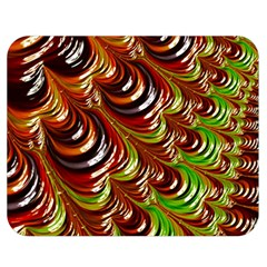 Special Fractal 31 Green,brown Double Sided Flano Blanket (Medium)