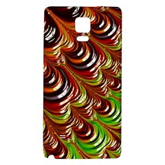 Special Fractal 31 Green,brown Galaxy Note 4 Back Case