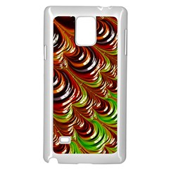 Special Fractal 31 Green,brown Samsung Galaxy Note 4 Case (white)
