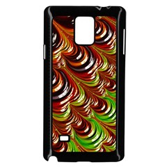 Special Fractal 31 Green,brown Samsung Galaxy Note 4 Case (Black)