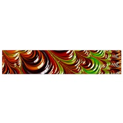Special Fractal 31 Green,brown Flano Scarf (small)