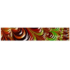 Special Fractal 31 Green,brown Flano Scarf (large)