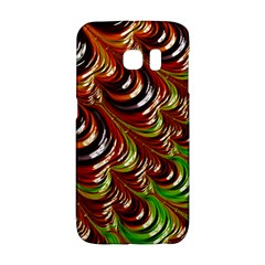 Special Fractal 31 Green,brown Galaxy S6 Edge
