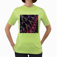 Special Fractal 31pink,purple Women s Green T Shirt