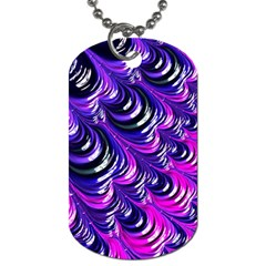 Special Fractal 31pink,purple Dog Tag (two Sides)