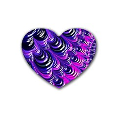 Special Fractal 31pink,purple Heart Coaster (4 Pack)
