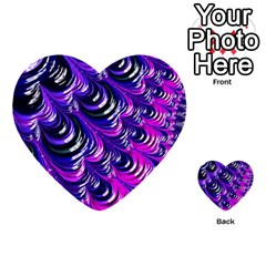 Special Fractal 31pink,purple Multi Purpose Cards (heart)