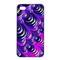 Special Fractal 31pink,purple Apple iPhone 4/4s Seamless Case (Black)