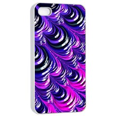 Special Fractal 31pink,purple Apple Iphone 4/4s Seamless Case (white)