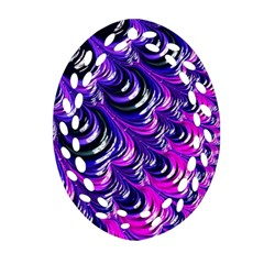 Special Fractal 31pink,purple Oval Filigree Ornament (2-Side)