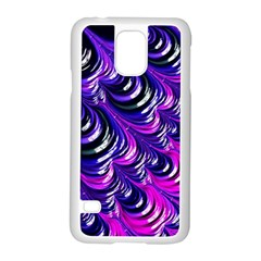 Special Fractal 31pink,purple Samsung Galaxy S5 Case (white)