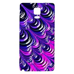 Special Fractal 31pink,purple Galaxy Note 4 Back Case