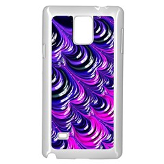 Special Fractal 31pink,purple Samsung Galaxy Note 4 Case (White)