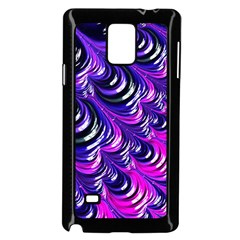 Special Fractal 31pink,purple Samsung Galaxy Note 4 Case (black)