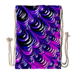 Special Fractal 31pink,purple Drawstring Bag (large)