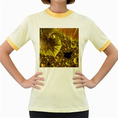 Special Fractal 35cp Women s Fitted Ringer T-Shirts