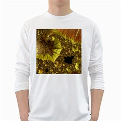 Special Fractal 35cp White Long Sleeve T-Shirts