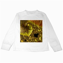 Special Fractal 35cp Kids Long Sleeve T-Shirts