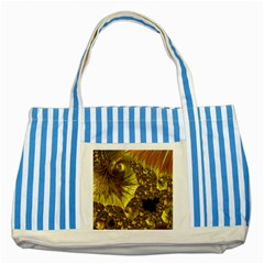 Special Fractal 35cp Striped Blue Tote Bag