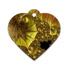 Special Fractal 35cp Dog Tag Heart (two Sides)