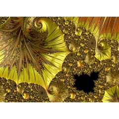 Special Fractal 35cp Birthday Cake 3D Greeting Card (7x5)