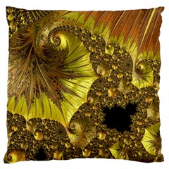 Special Fractal 35cp Large Flano Cushion Cases (One Side)