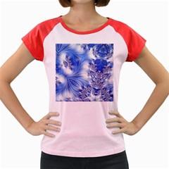 Special Fractal 17 Blue Women s Cap Sleeve T-Shirt