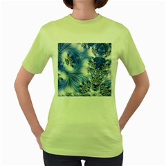 Special Fractal 17 Blue Women s Green T Shirt