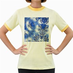 Special Fractal 17 Blue Women s Fitted Ringer T Shirts